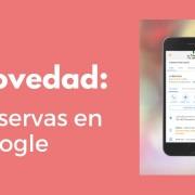 Novedad reservas en google